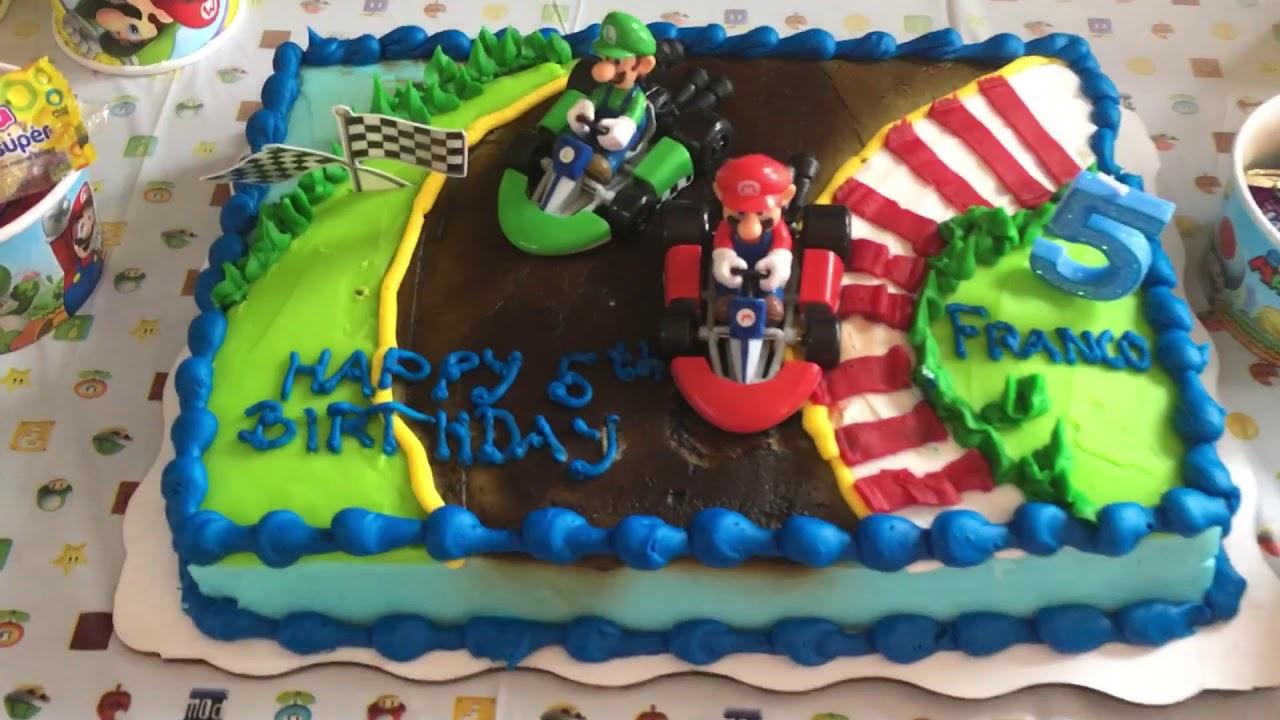 Decoración Super Mario Bros Fiesta De Cumpleaños De Franco Mario