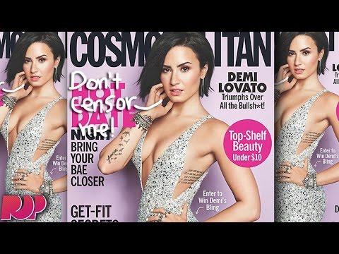Sexy Demi Lovato Cosmopolitan Cover Censored (PHOTOS)