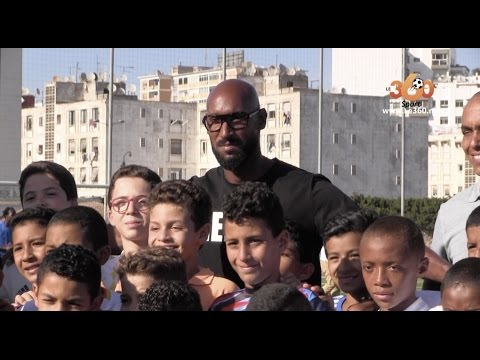 Le360.ma • Nicolas Anelka à l'ouverture de l'académie Ginga de Casablanca
