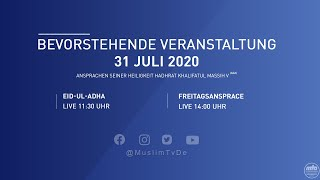 Bevorstehende Veranstaltung - Eid-ul-Adha | 31 Juli 2020
