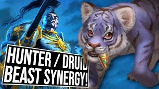 Crazy Hunter & Druid Beast Synergy Deck! | Arena | Saviors of Uldum | Hearthstone