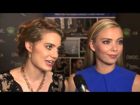 Clara Pasieka and Emilia McCarthy and at OMDC's Celebrate Ontario during TIFF 2014