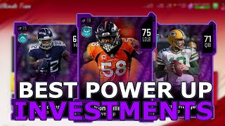 THE BEST POWER UPS TO INVEST IN RIGHT NOW! MAKE MILLIONS OF COINS - Madden 20 Ultimate Team