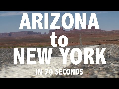 From ARIZONA to NEW YORK in 70 seconds
