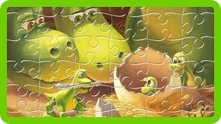 Disney The Good Dinosaur Finger Family Jigsaw Puzzle - Baby Dinosaurs with Children's Nursery Rhyme