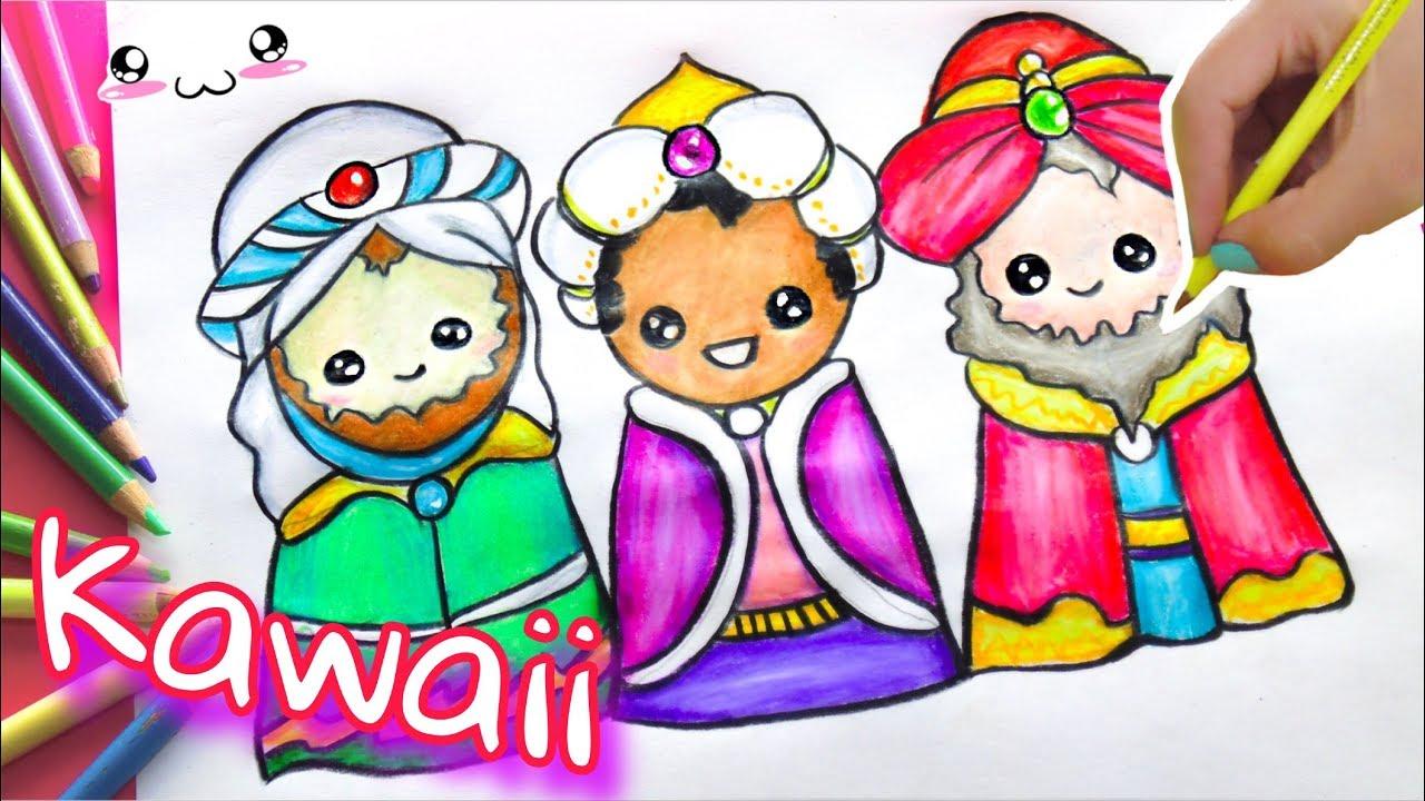Como Dibujar A Los Reyes Magoskawaii Para Tu Carta De Reyes Vane V