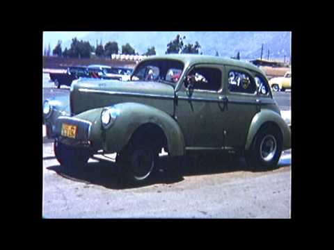 1959 RIVERSIDE RACEWAY hd green willys sedan weddle nichols