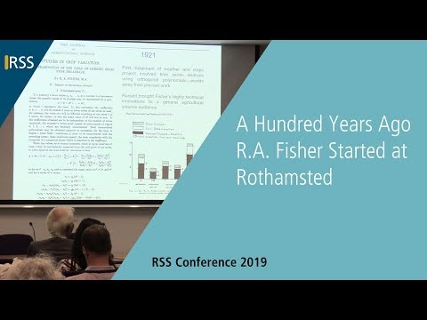 A Hundred Years Ago R.A. Fisher Started at