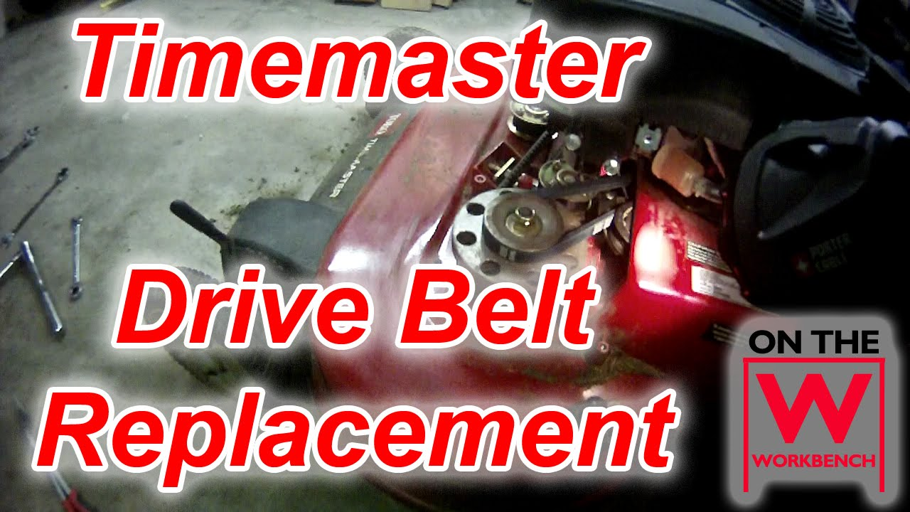 Toro Timemaster Drive Belt Replacement Youtube Timecutter Wiring Diagram Ss 5000