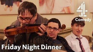 Jim's Method For Playing The Violin Is A Bit… Different  Friday Night Dinner