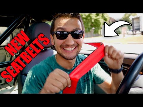 How To Install Custom Seat Belts!!! ANY COLOR