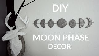 ☽ Diy Moon Phase Wall Decor ☾ Urban Outfitters Inspired