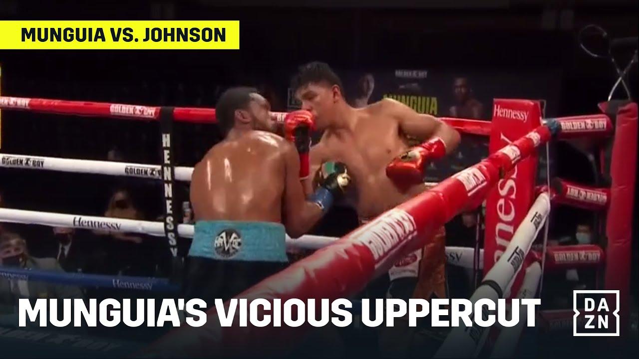 Jaime Munguia's Huge Uppercut Leaves Massive Cut on Tureano Johnson