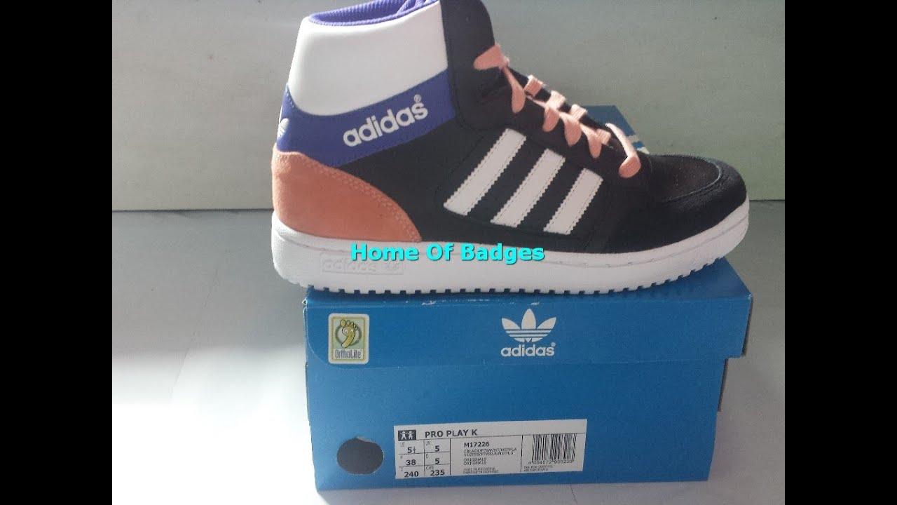 05bad9e700bc47 20150710 Adidas Originals 2015 Q2 Youth PRO PLAY K Fashion Sneakers M17226