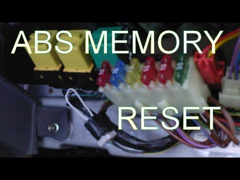 How to Reset the ABS Light. How to Clear the Fault Code Memory after Replacing a Faulty ABS Sensor.