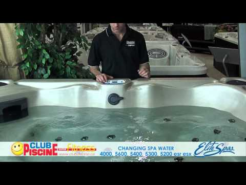 Changing Water - Elite Spas 4000, 5600, 5400, 5300, 5200, ESR, ESX