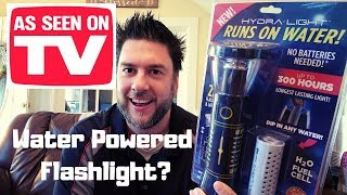 HydraLight review: Water Powered Flashlight. As Seen On TV product reviews