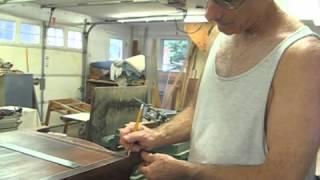 Restoring An Antique Simon Willard Clock - Part 9 - Recreating A Checkerboard Inlay