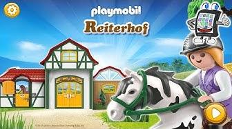 PLAYMOBIL REITERHOF App deutsch   Reitstrecken Labyrinth bauen   FINDEN DIE PFERDE DEN WEG?