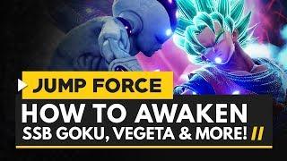 Jump Force | How to Awaken Super Saiyan Blue Goku, Vegeta & Golden Frieza