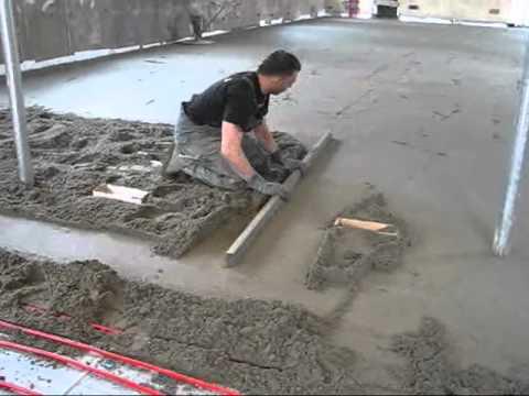 Genoeg Aanleggen van cementdekvloer 23 april 2012 - YouTube AV48