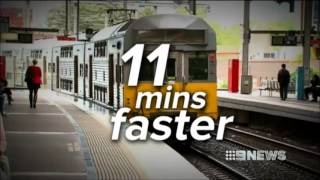Nine News Sydney - New train timetable publicly released (17/9/2013)