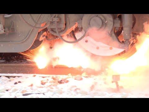 Взрыв железнодорожных петард / Explosion of railway detonators (torpedos)
