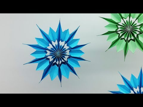 3D Mini Paper Snowflakes DIY - How to Make Christmas Snowflake for Homemade