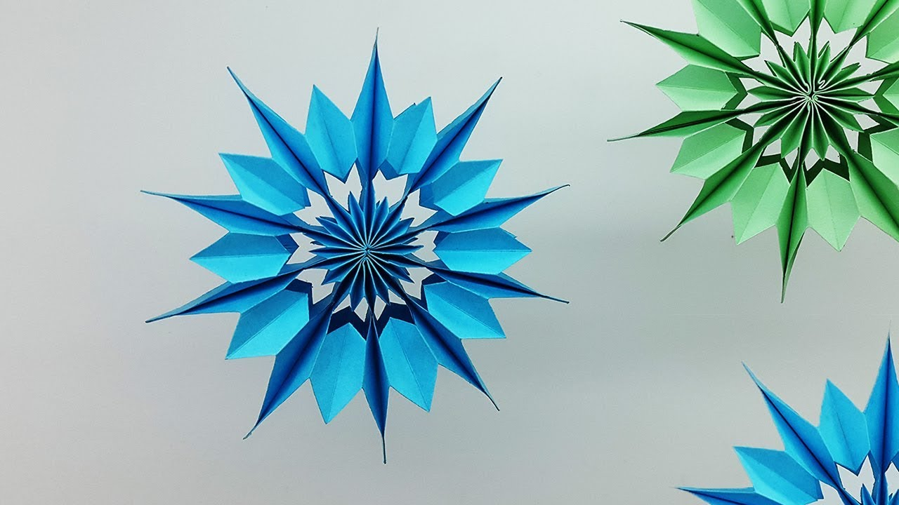 3d Mini Paper Snowflakes Diy How To Make Christmas Snowflake For Homemade By Colors Paper