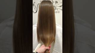 Полировка волос эффект до и после реконструкция волос стрижка кончиков
