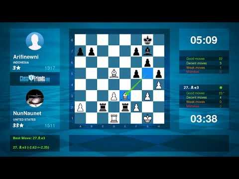 Chess Game Analysis: NunNaunet - Arifinewni : 1-0 (By ChessFriends.com)