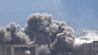 Raw: Syrian Forces Target Rebels in Aleppo