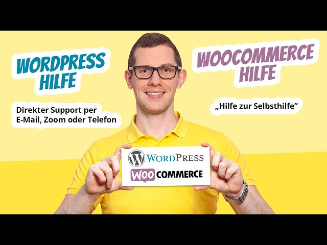 WordPress Hilfe & WooCommerce Hilfe zur Selbsthilfe 🥇  Support, Beratung, Coaching uvm.
