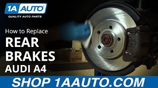 How to Replace Rear Brakes 07-09 Audi A4