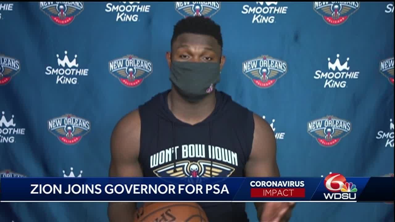 Pelicans' Zion Williamson encourages Louisianans to 'stay safe and ...