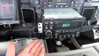 How To Remove Dash and Install OEM Radio in a 1995 Buick Roadmaster Limited