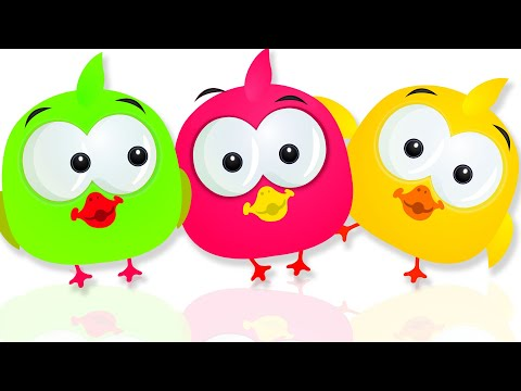 Cute Ducks and their Colored Funny Air Pumping Machine | Finger Family Song by KidsCamp