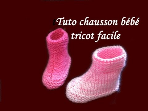 les tutos de fadinou tuto tricot chausson bebe booties tricot facile. Black Bedroom Furniture Sets. Home Design Ideas