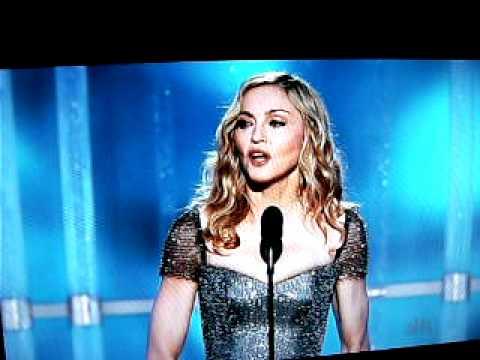 Madonna presents award at Golden Globes 2012