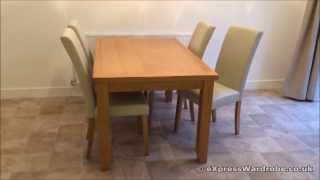 Solid Oak Dining Table Chairs Set - Oakfurnitureland