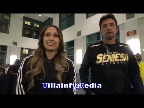 SENIESA ESTRADA EXPLAINS SIZE DIFFERENCE CANELO WILL FACE WITH CHAVEZ JR FROM PERSONAL EXPERIENCE