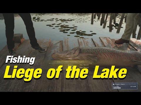 Final Fantasy Xv Fishing Liege Of The Lake Youtube