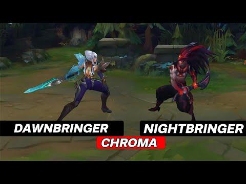 Nightbringer Yasuo Dawnbringer Riven Chromas skins