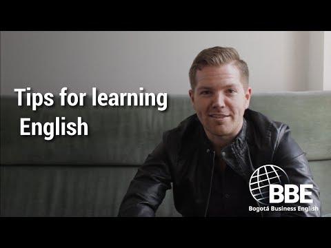 Tips for learning English | Bogotá Business English