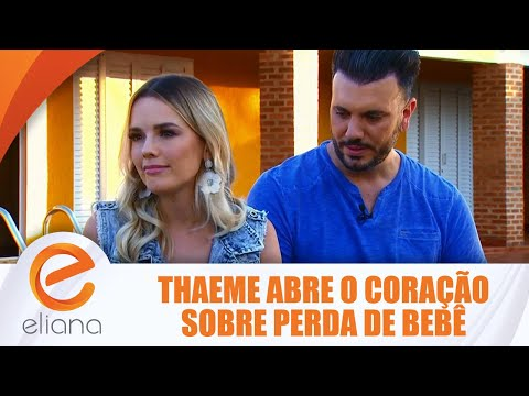 Thaeme abre o coração sobre perda de bebê - Eliana visita Thaeme & Thiago| Programa Eliana (29/07/18
