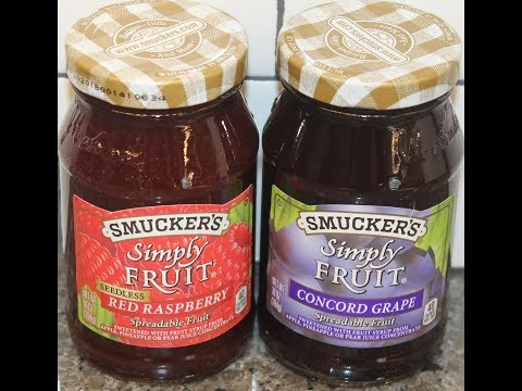Smucker's Simply Fruit: Red Raspberry and Concord Grape Spreadable Fruit Review