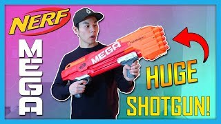 LARGEST Nerf Shotgun - Is It Worth Buying? | Nerf Mega Twinshock Review