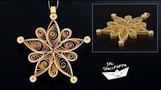 Sterne basteln zu Weihnachten mit Papierstreifen - schöne Weihnachtsdeko selber machen - DIY