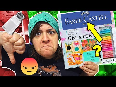DON'T BUY! 14 REASONS FABER CASTELL GELATOS Kit Is NOT Worth It SaltEcrafter #24