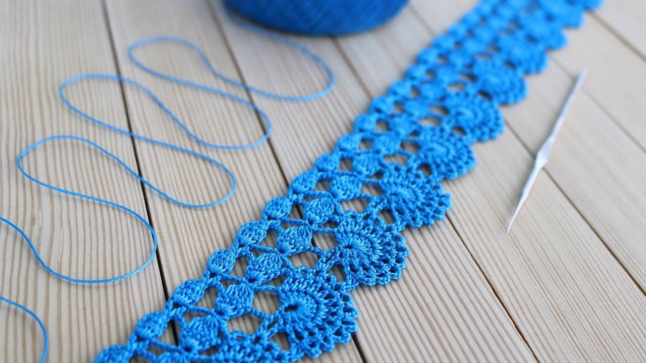 ЛЕНТОЧНОЕ КРУЖЕВО простое и ажурное вязание крючком мастер-класс Easy to Crochet Lace Ribbon